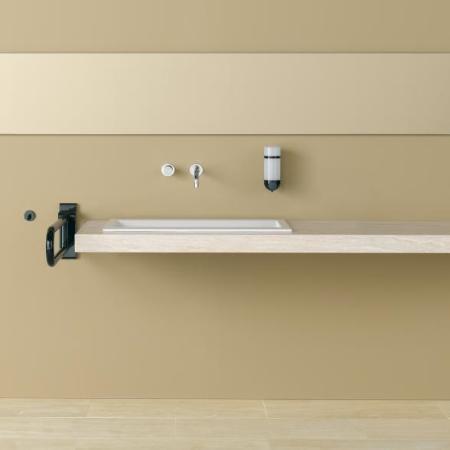 hewi serie 801 st tzklappgriff 850 mm 18 senfgelb. Black Bedroom Furniture Sets. Home Design Ideas