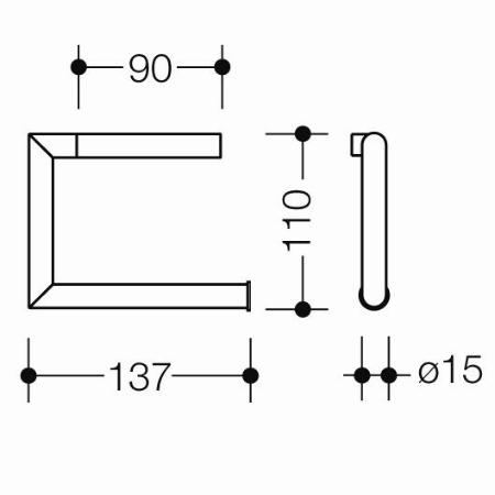 hewi system 162 wc papierhalter edelstahl matt papierrollenhalter. Black Bedroom Furniture Sets. Home Design Ideas