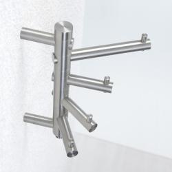 phos garderobenhaken edelstahl matt gh 4 2 drehbar 4 haken gh4 2. Black Bedroom Furniture Sets. Home Design Ideas