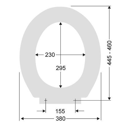 pagette wc sitz calypso t rkis scharniere edelstahl 790821602. Black Bedroom Furniture Sets. Home Design Ideas