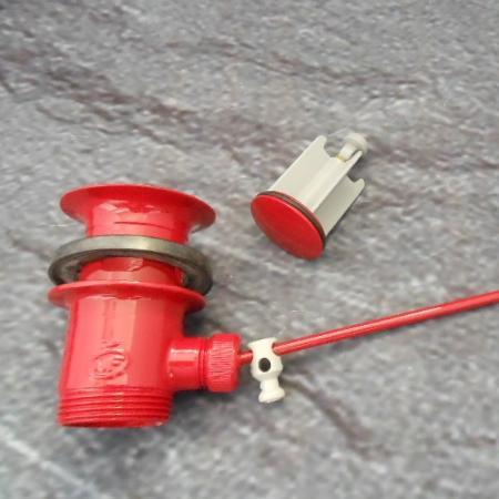 Waschtisch ablaufgarnitur rot mit stopfen 005000 ro for Waschtisch ablaufgarnitur